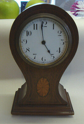 Edwardian balloon shaped inlayed clock made by Buren