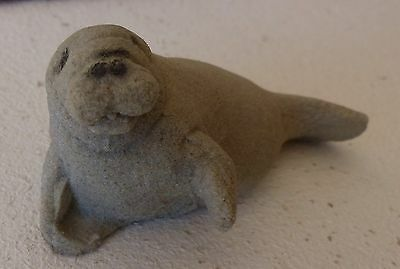 Gray Seal Figurine made from Mount St. Helens Ash
