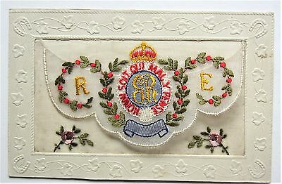 Fine WWI Military English ORDER of the GARTER EMBROIDERED French Postcard