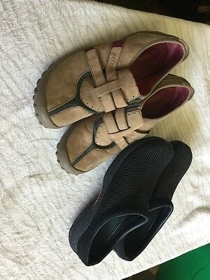 Women's Size 11 Merrell Privo Shoes Lot Of 2 Pairs Black Brown