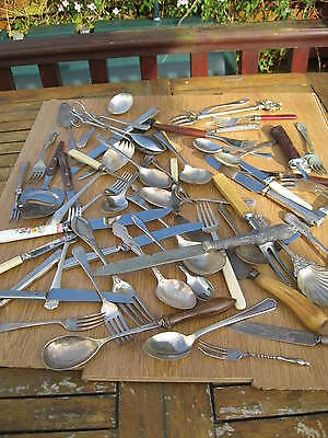 Vintage Retro Job Lot Assorted Silver Plated Cutlery & More