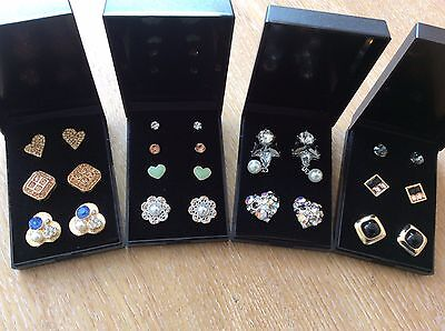 Job Lot Of 4  NEW Items Of Fashion Jewellery Gift Boxed Earrings New 280317-05