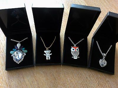Job Lot Of 4  NEW Items Of Fashion Jewellery Gift Boxed Necklaces New 060417-09