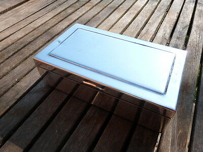 Lovely Vintage Silver Plate Cigarette Table Box.with Makers Mark.