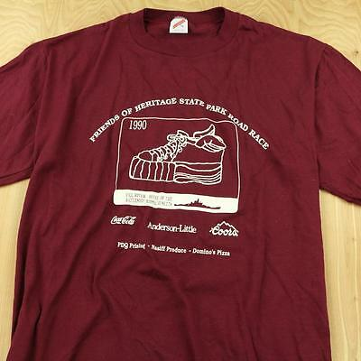 vtg 1990 usa made jerzees t shirt XL heritage park fall river race soft thin 90s