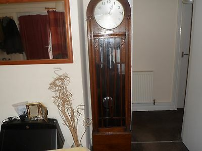 Art Deco 8 day Dome Top Triple Chime longcase/Grandfather Clock