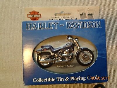 Harley Davidson Collectible Tin and Playing Cards