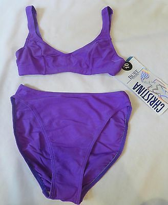 Vintage Cole  80s 90s Bathing Suit  Dead Stock sz  10 Bikini High Cut