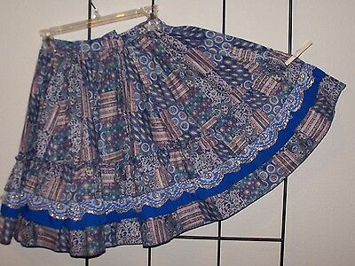 Purple print western rodeo square dance skirt Small