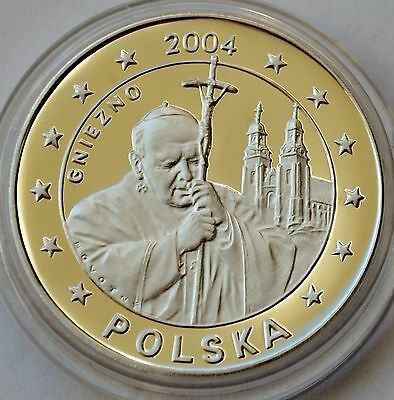 5 EURO PATTERN Silver Coin PROOF - Poland 2004 - Pope John Paul II