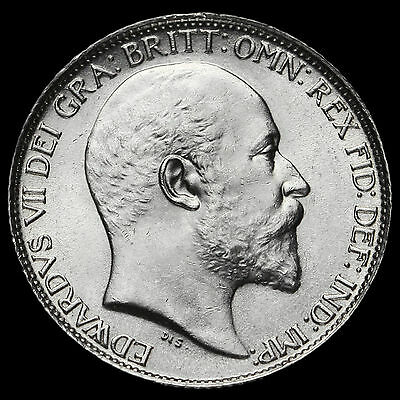 1910 Edward VII Silver Sixpence, Choice BU