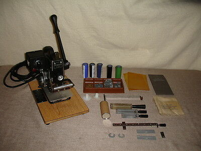 Kingsley Stamping Machine Model M-75 Multi Line with Accessories