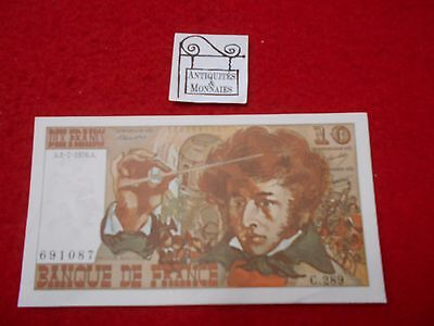 France Ticket From 10 Francs Hector Berlioz 1.7.1976 691087 Old French Bank Note