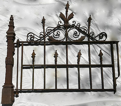 1800's Victorian Era Cast Iron Garden Gate