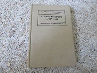 1948 Book National Electrical Safety Code US Dept Commerce Bureau Standards H30