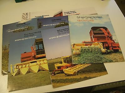New Holland Farm Equipment Brochures - Lot of 7 from 1980's