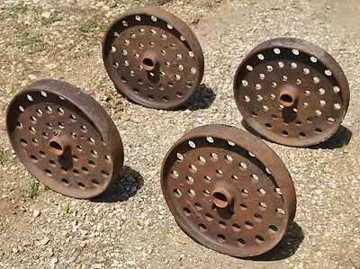 John Deere Tall Cast Iron Wheels Hit Miss Gas Engine Steam Punk Industrial Cart