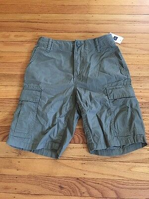 NWT Gap Kids Boys Cargo Shorts 8 Green Shorts