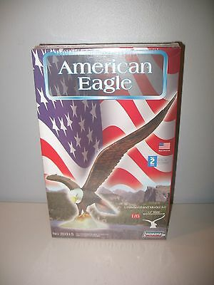 "Lindberg American Eagle Plastic Model Kit #70315 1/6 Scale Wing Span 12"" Sealed"