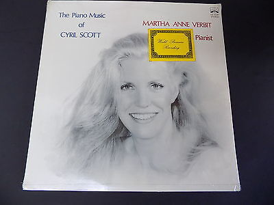 "1974 Sealed LP ""The Piano Music of Cyril Scott"" MARTHA ANNE VERBIT Genesis Rare"