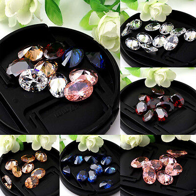 Oval Cut AAA Natural Zircon Gems Diamonds VVS Loose Gemstones 10X14mm 5Colors