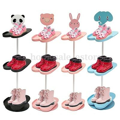 New 4 Tiers Lovely Cartoon Animal Kid's Shoe Rack Holder Portable Stand Storage