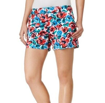 Tommy Hilfiger NEW Blue Pink Women's Size 12 Floral Printed Shorts $49 #494
