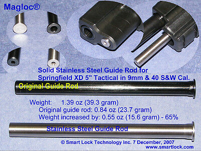 """Solid  Steel (black color) Guide Rod - Springfield XD9 405"""" Tactical Model #1671"""