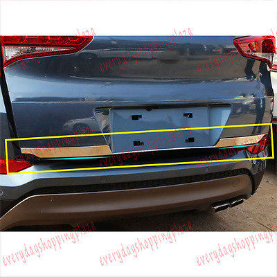 Stainless Rear Trunk Tail Gate Door Lid Trim Molding For Hyundai Tucson 2016-