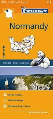 Normandy (Normandie) Map 513 Michelin Regional Maps: France 9782067209657