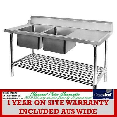 Fed Commercial Left Inlet Double Sink Dishwasher Bench Dsbd6-1800L/a
