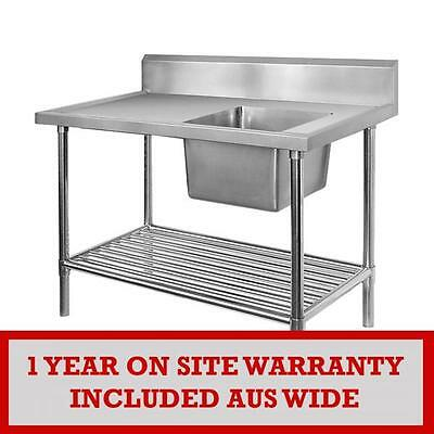 SSB6-1200R/A Single Right Sink Bench with Pot Undershelf VALUE