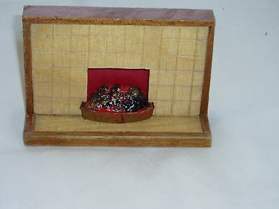 1950's....DOLLS HOUSE FURNITURE...Wooden FIREPLACE....(2)......1:16 Scale