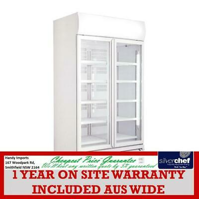 Fed Commercial Large Double Glass Door Upright Display Fridge Lg-1000Gth