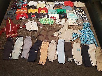baby boys 18-24 months 2-3 years clothes bundle 52 items