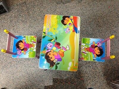 2 Chairs Table Set Mdf For Boys Girls Kids Children Toddler Study Furniture