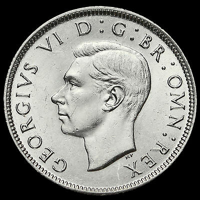 1942 George VI Silver Two Shilling Coin / Florin, G/EF #2