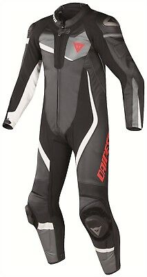 Dainese Veloster 2016 Race One 1 Piece Leather Motorcycle Motorbike Suit Black
