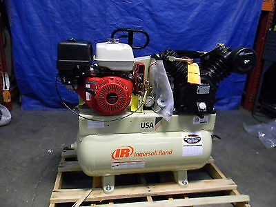Ingersoll Rand Stationary Two Stage Gas Engine Air Compressor 13 HP 30 gal