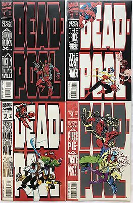 Marvel Comics Deadpool The Circle Chase #1-4 Complete Set 1st Deadpool Solo