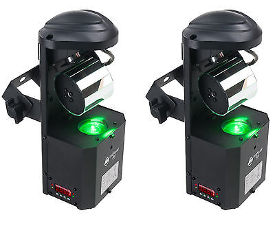 2 New! American DJ ADJ Inno Pocket Roll DMX LED 12W Barrel Mirror Scanner Lights