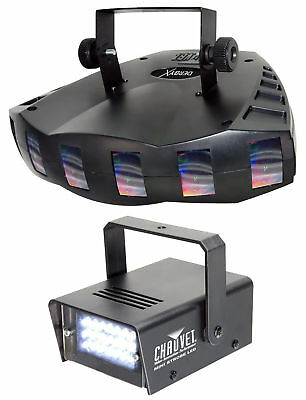 New! Chauvet DJ DERBY X DMX-512 Multi Colored LED Derby Club Light +Strobe Light