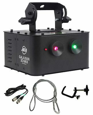 American DJ GALAXIAN 3D MKII Laser Light + Clamp + Security Cable + DMX Cable