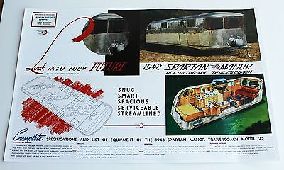 1948 Spartan Trailer Model 25 Poster Reproduction