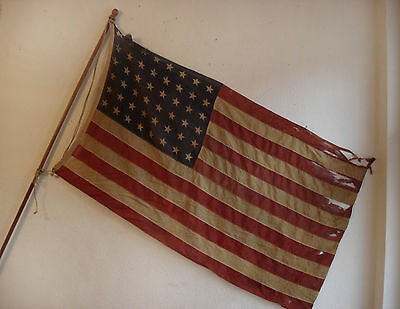 Antike Amerikanische Flagge 48 Sterne   Old Glory USA Flag 48 Stars ORIGINAL