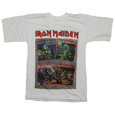 Iron Maiden Shirt Vintage tshirt 1990s 10th Anniversary tee metal band 90s