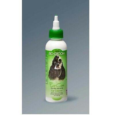 Bio-Groom Ear Care Ear Cleaner and Ear Wax Remover Non Sticky for Dogs Cats 4 oz