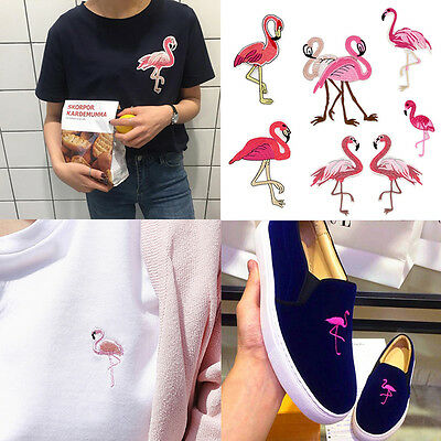 Flamingo Embroidered Patches Sew On Iron On Patches Badge Clothes Patch Stickers