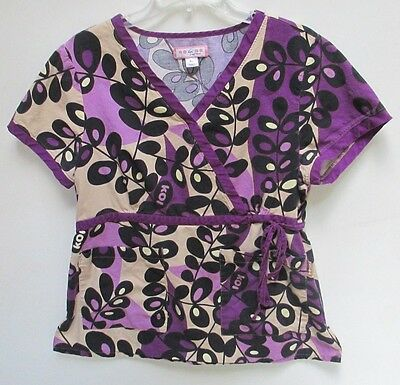 Kathryn size  XL Koi 115 Cotton Scrub Top - Purple