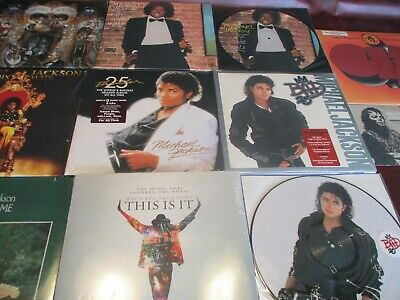 Michael Jackson Thrill 25Th Anniversary Issues + Off The Wall + Jackson Lp Set